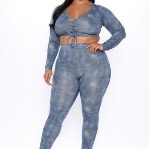 Fashion Nova Make You Laugh Pant Set Size 1x